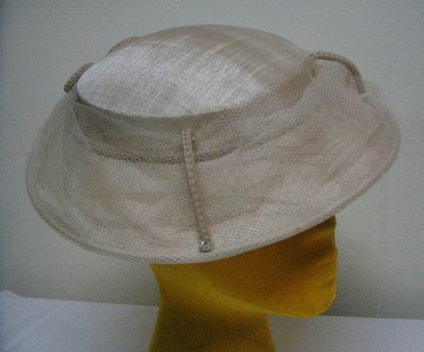 Vintage Cream netted Hat